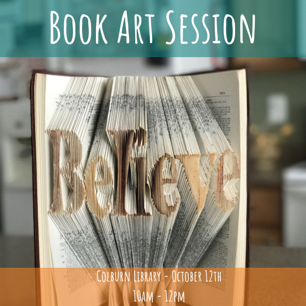 Book Art Session at Colburn Library